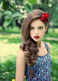 плетеница за дугу косу 9