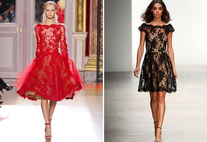 красивые кружевные платья