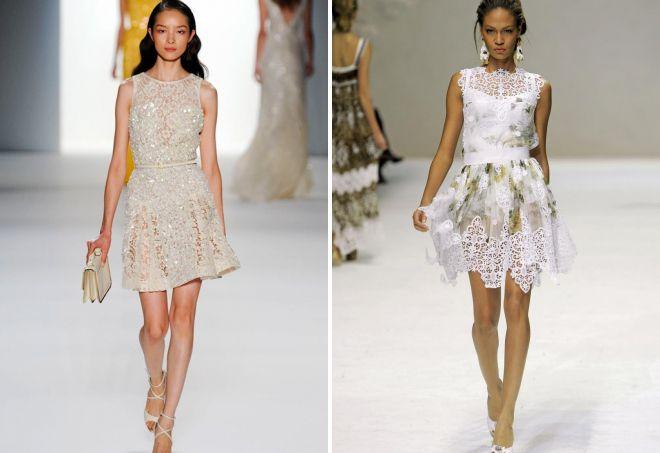 красивые белые платья
