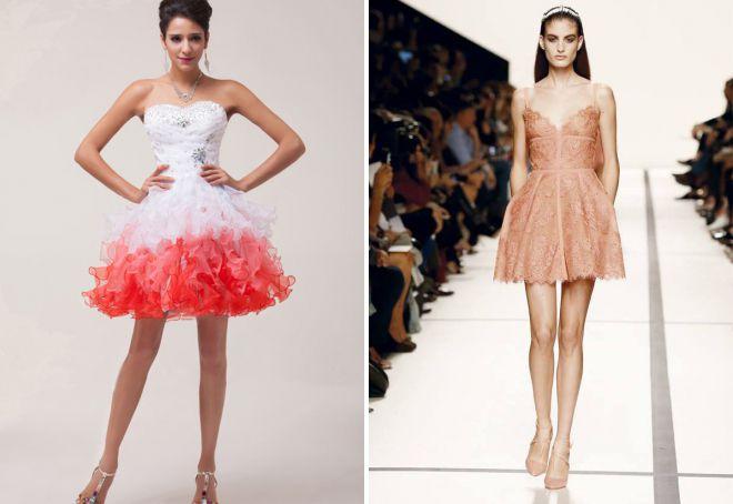 красивые короткие платья