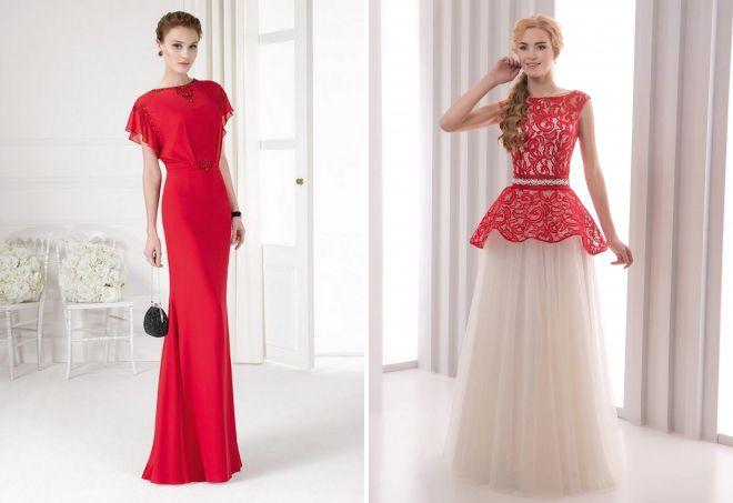красивые платья в пол