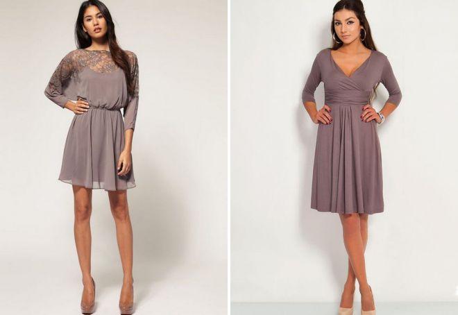 красивые короткие платья с рукавами