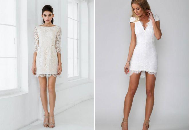 красивые короткие кружевные платья