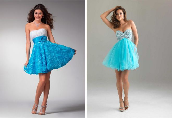 красивые вечерние короткие платья