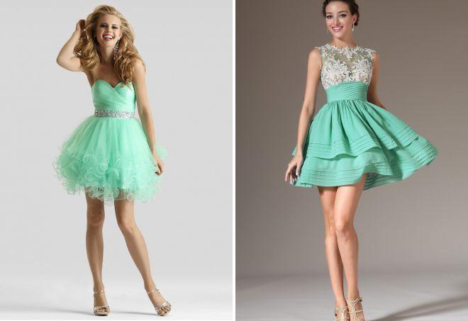 самые красивые короткие вечерние платья