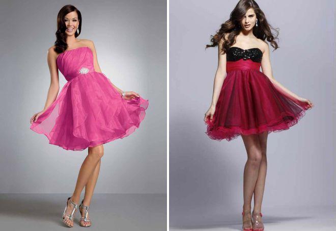 красивые вечерние модные короткие платья