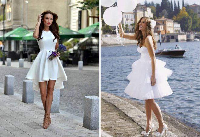 красивые короткие платья на свадьбу