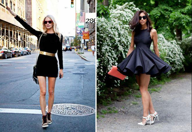красивые образы с коротким платьем
