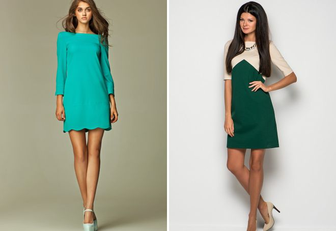 красивые короткие прямые платья