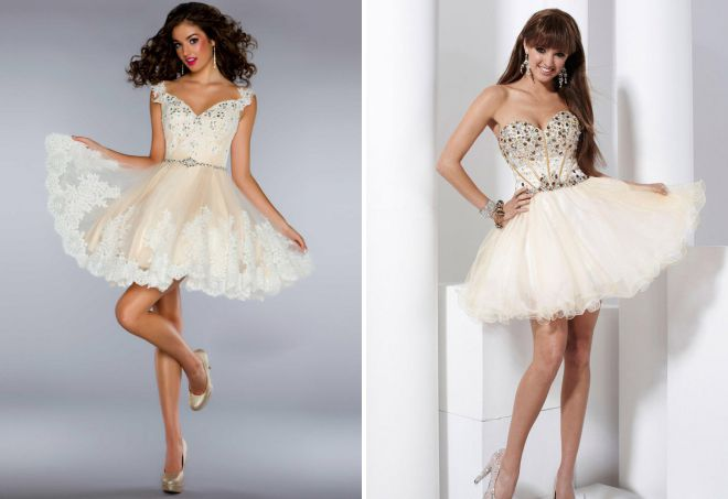 красивые короткие пышные платья