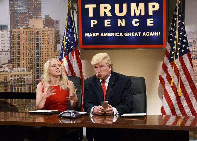 Алек Болдуин в пародии на Дональда Трампа