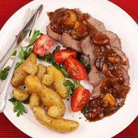 Wołowina w piecu francuskim z grzybami