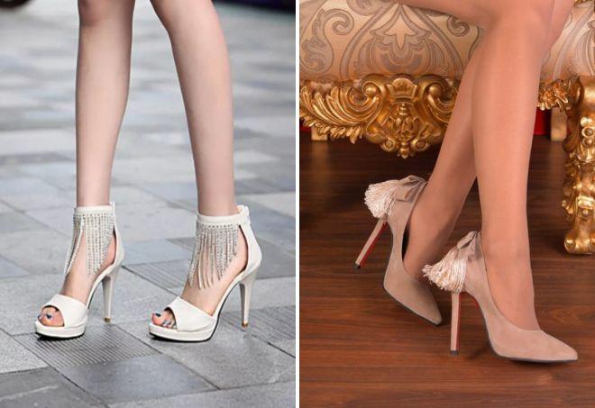 женские бежевые туфли