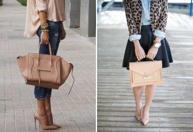 сумка под бежевые туфли