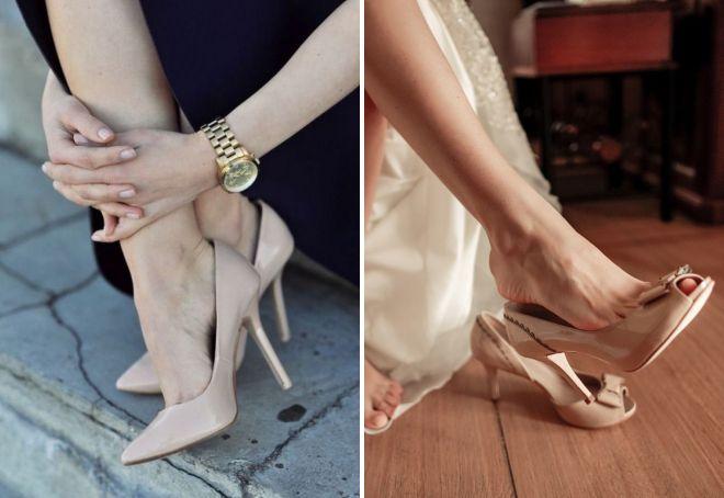 как выбрать бежевые туфли