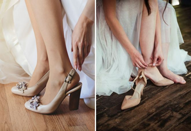 классические бежевые туфли