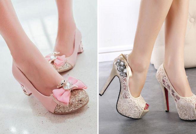 модные бежевые туфли