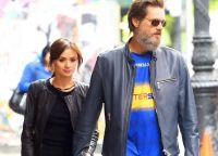 Кэтриона Уайт и Джим Керри на прогулке по городу