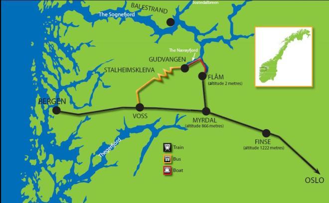 Город Берген на карте