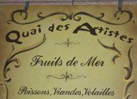 Ресторан Quai Des Artistes - вывеска