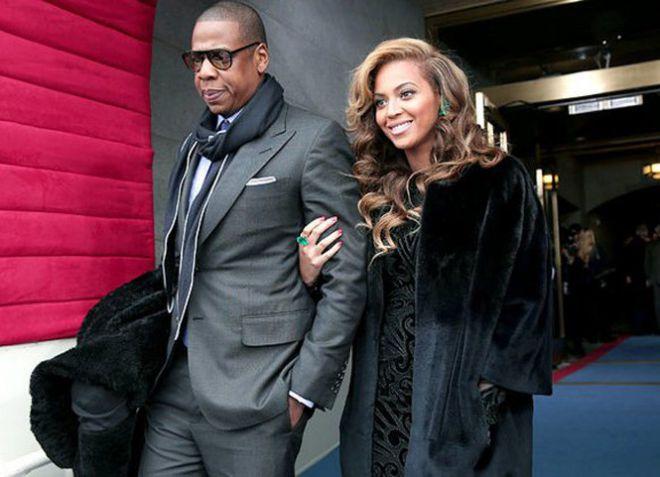 Бейонсе с мужем после выступления
