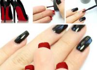 czarny manicure1