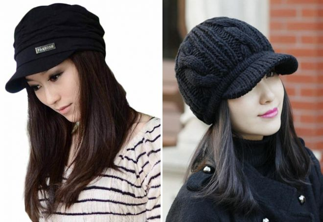черная шапка кепка с козырьком
