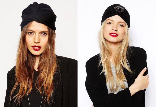 модные черные шапки