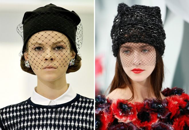 черные теплые шапки