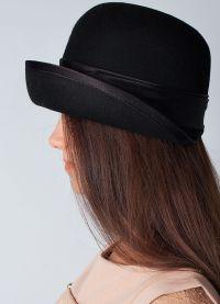 černá klobouk 6
