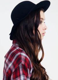 černá klobouk 7