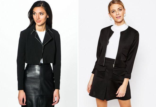 женский черный пиджак