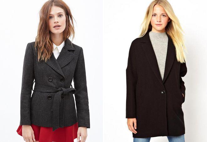 черное пальто пиджак
