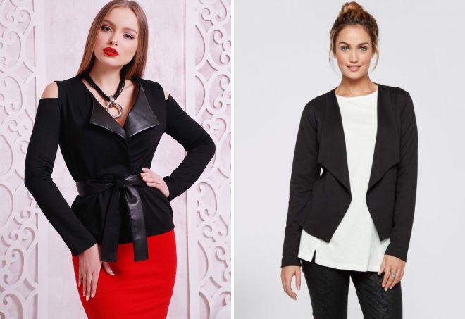 красивый черный пиджак
