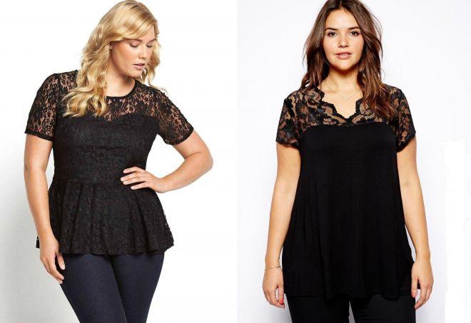 модные черные футболки