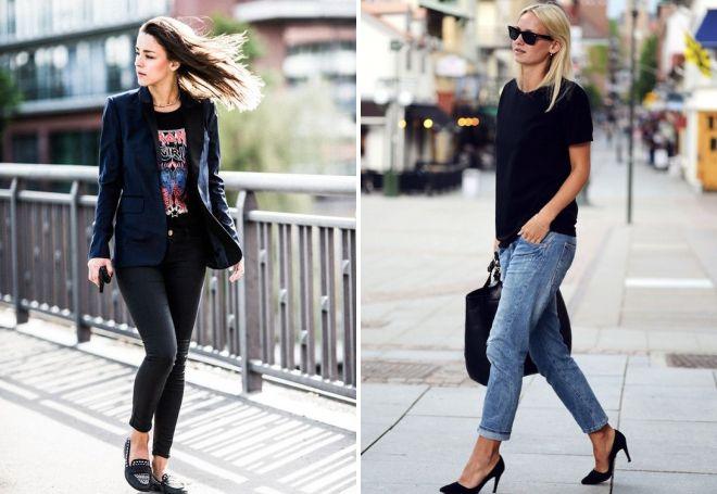 стильная черная женская футболка