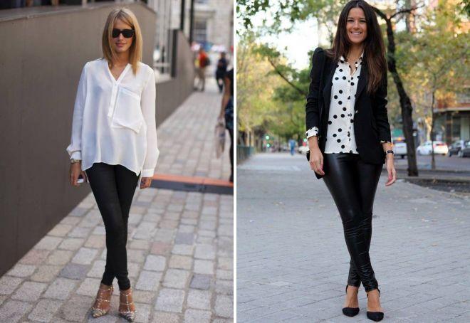 женские узкие черные брюки