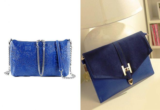 женский синий клатч