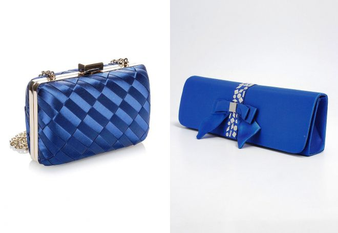 модный синий клатч
