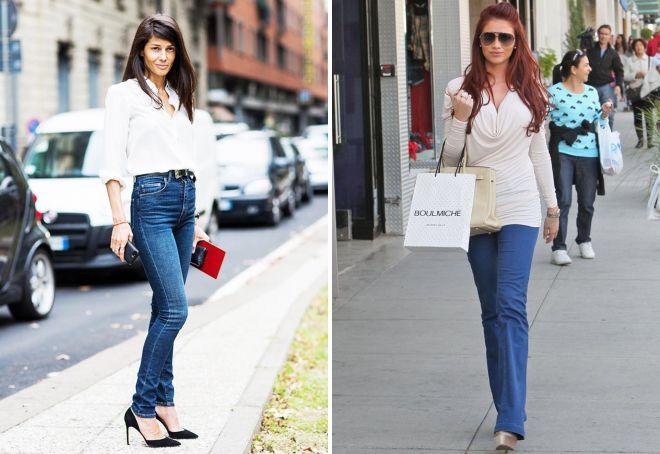 с чем носить женские синие джинсы