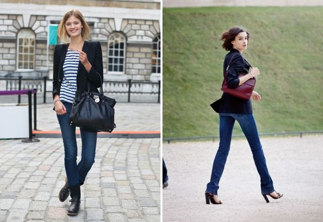 женские синие прямые джинсы