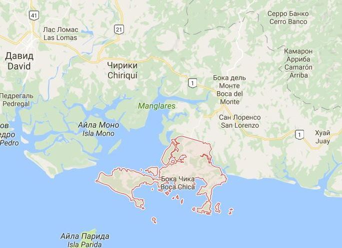 Бока-Чика на карте