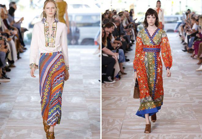 юбки бохо 2017 года модные тенденции