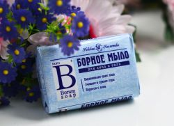 vlastnosti boritého mýdla