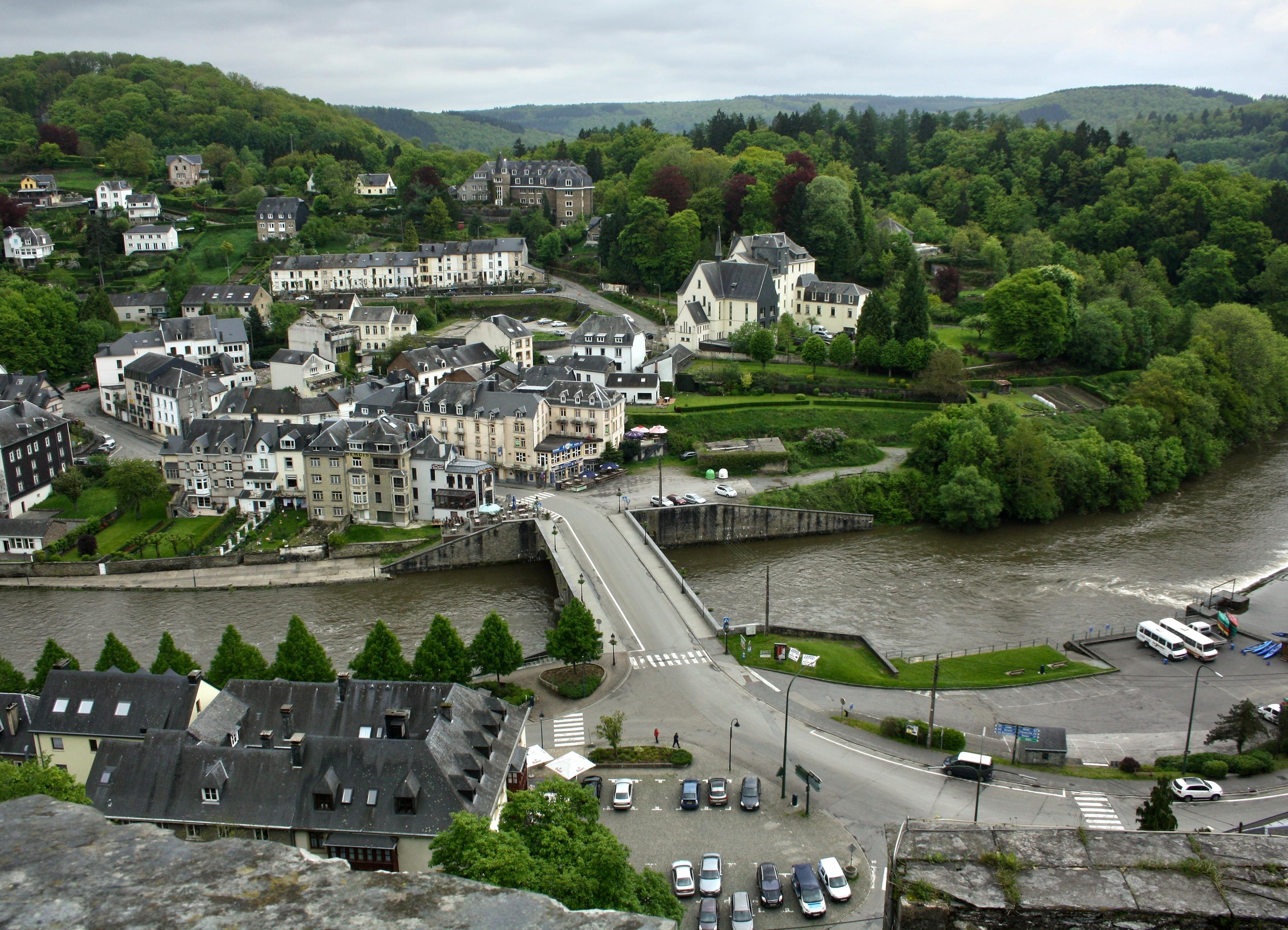 Вид на город с вершины замка