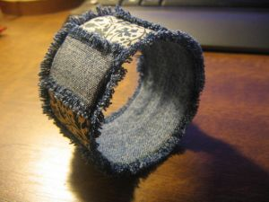 како направити наруквицу од тканине9