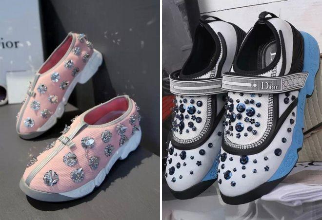 женские кроссовки Dior