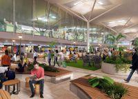 Sprehod v dvorane Brisbane Airport