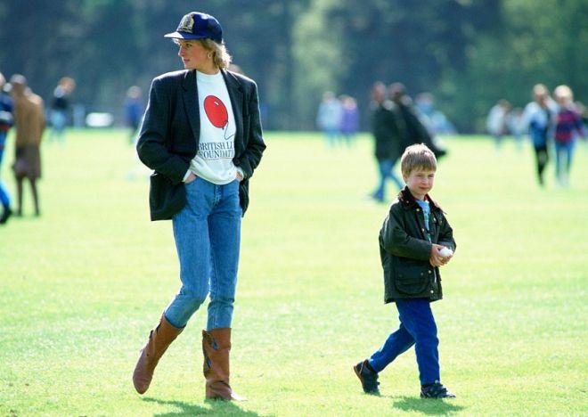 Леди Диана со старшим  сыном