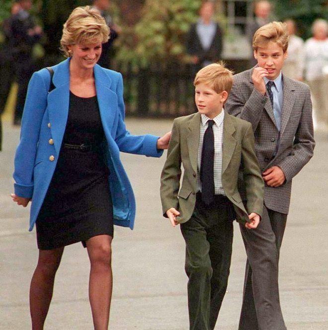 Принцесса Диана с сыновьями